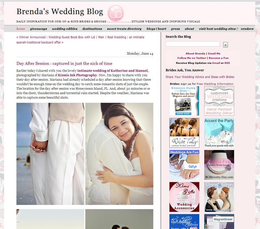 2010 Featured Online Wedding Blogs